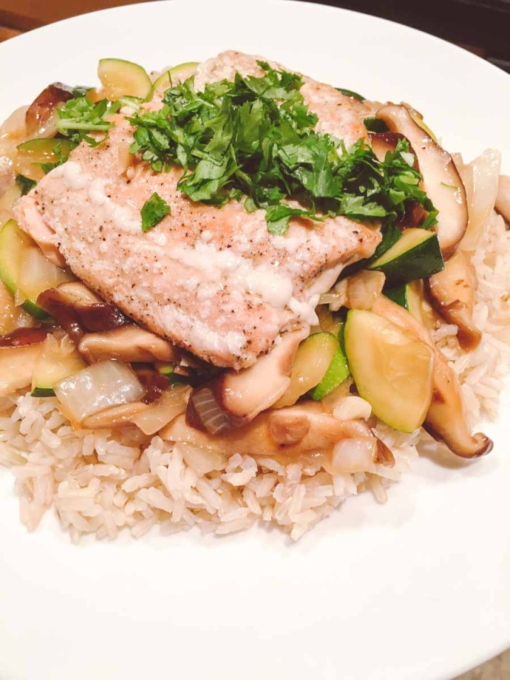 What a dietitian eats in a week - homemade salmon recipe