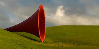 Anish Kapoor - Mild steel tube and tensioned fabric