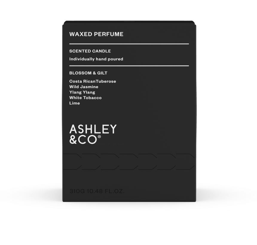 ashley and co - soy blend wax packaging minimalist
