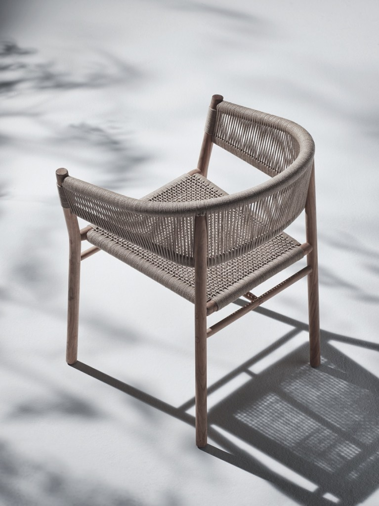 elegant teak and rope garden chair by ethimo