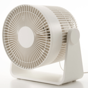 Muji silent circular fan organisation desk area office working from home