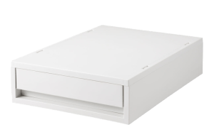 A4 26x37x9 PP Drawer units White Grey