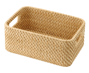 Organisation at Home Muji Rattan Basket with Handle 15x22x9cm