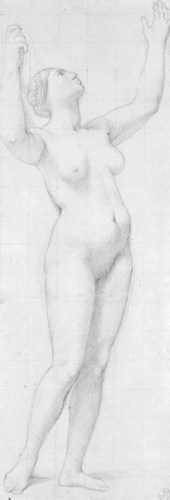 Nude Study for the Figure of France in The Apotheosis of Napoleon_Ingres