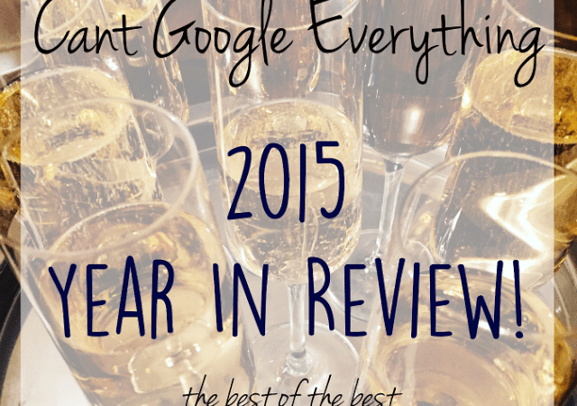 The 2015 Year in Review: Best of the Best!