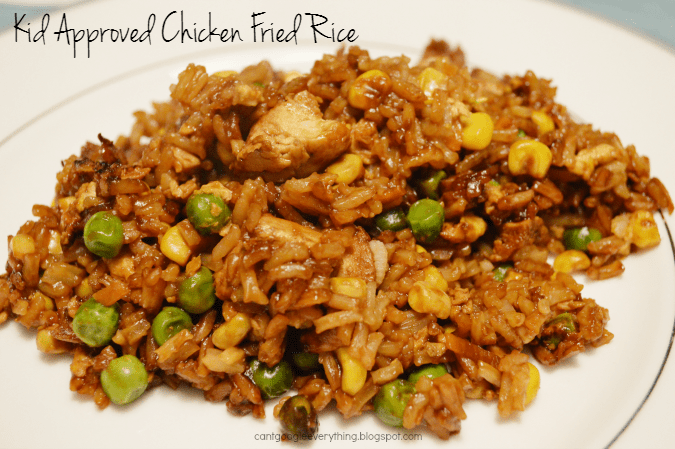Kid Approved Chicken Fried Rice!