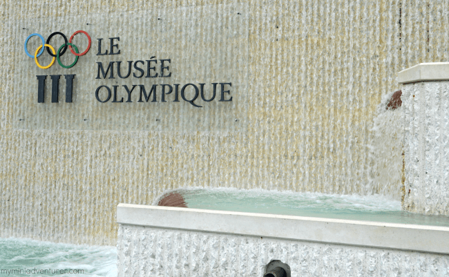 Olympics museum sign