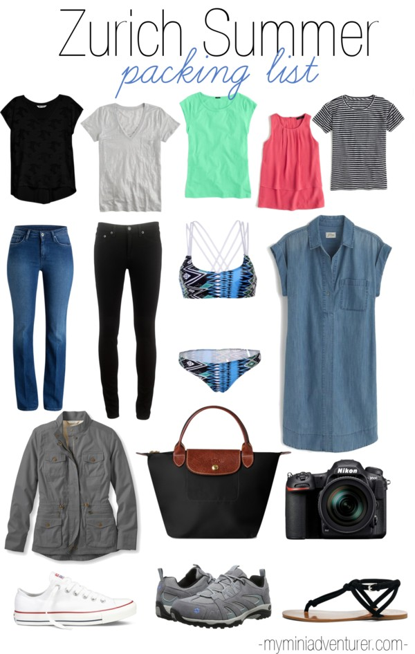 zurich summer packing list