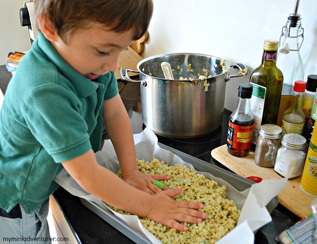 rice krispies treats press down