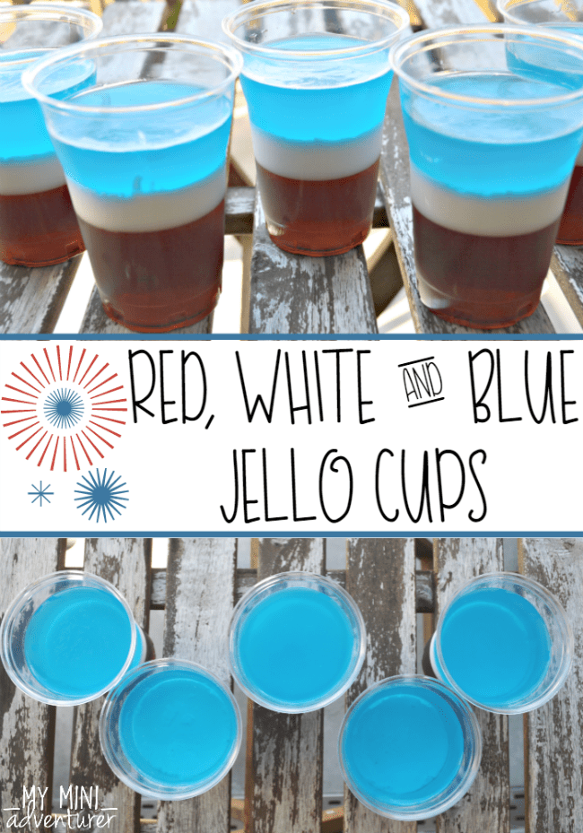 Red White and Blue Jello Cups