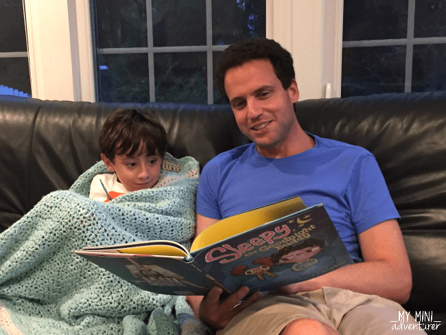 sleepy the goodnight buddy reading with dad