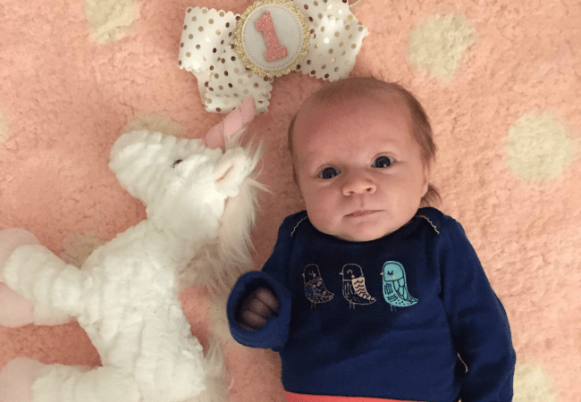 Riley is One Month Old!