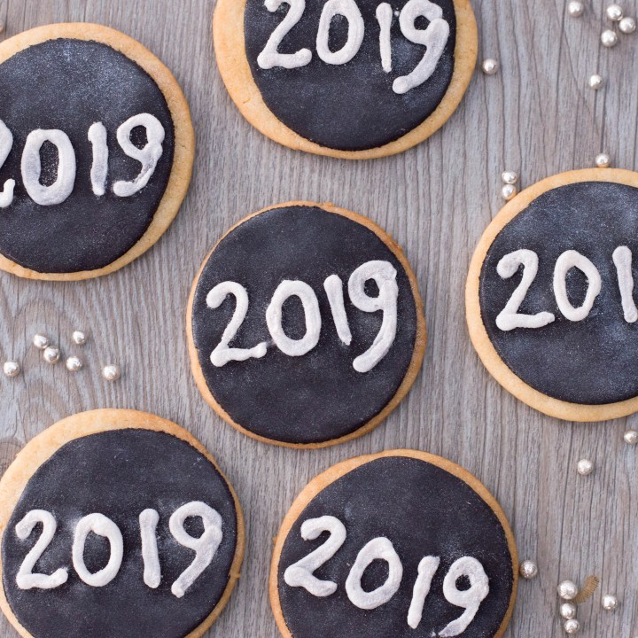 Sparkling New Years Eve Cookies