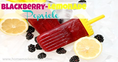 Blackberry Lemonade Popsicles