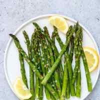 Air Fryer Asparagus {Vegan, Low Carb, Keto, Paleo, Whole 30, Gluten Free}