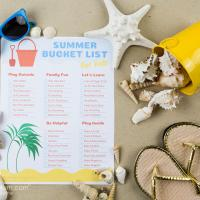 Printable Summer Bucket List For Kids - 5 Minutes for Mom