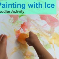 A Colorful Painting with Ice Activity for Toddlers & Preschoolers