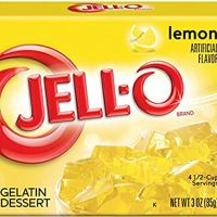 JELL-O Lemon Gelatin Dessert Mix (3 oz Box)