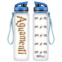 LEADO 32oz 1Liter Motivational Water Bottle with Time Marker