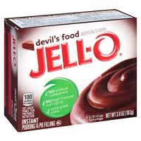 JELL-O Devil's Food Cake Instant Gelatin Dessert Mix (3.8 oz Box)