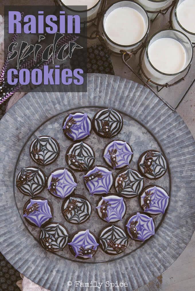Raisin Spider Cookies