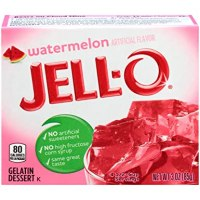 Jell-O Watermelon Flavor Gelatin Dessert, 3 Ounce Box (4-Pack)
