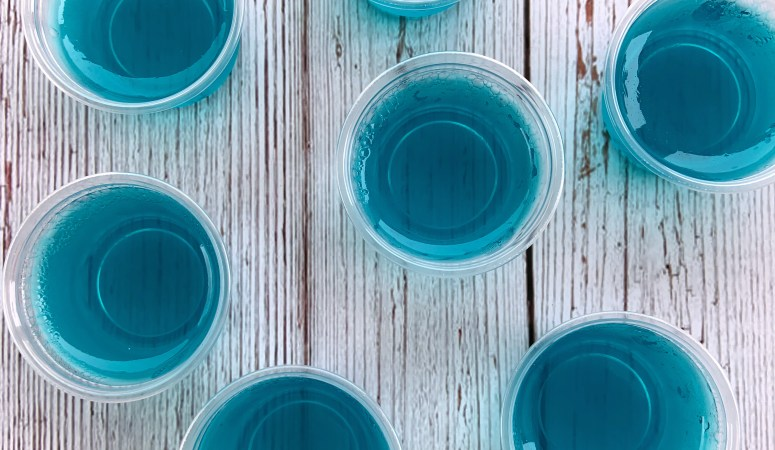 Frozen Arendele Lemonade Jello Shots