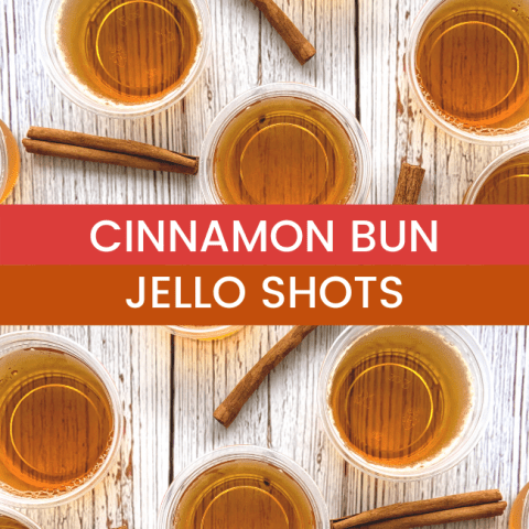 Cinnamon Bun Jello Shots