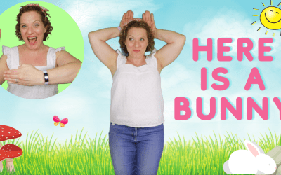 Here Is A Bunny   Action Song For Preschool Kids & Toddlers