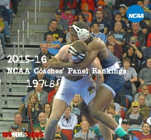NCAA Wrestling: Coaches' Panel Wrestling Rankings Released – 197lbs Weight Class