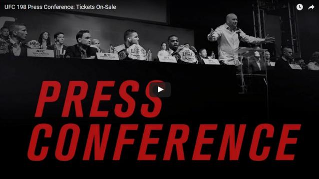 WATCH:  UFC 198 Press Conference – Today 2 p.m. EST