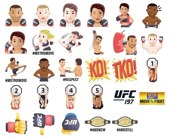 UFC Emoji Keyboard Debuts With UFC 197