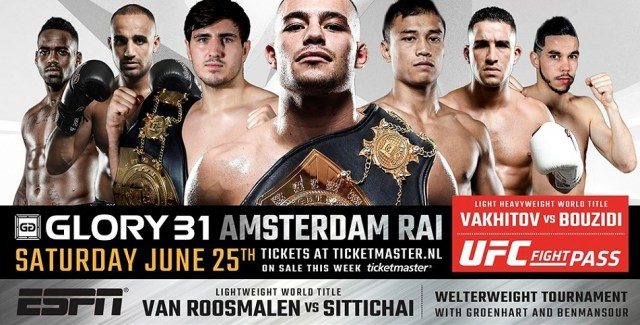 More GLORY 31 bouts announced for Amsterdam