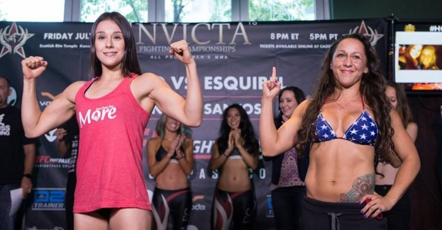 Invicta FC 18 weigh-in results, two ladies miss weight