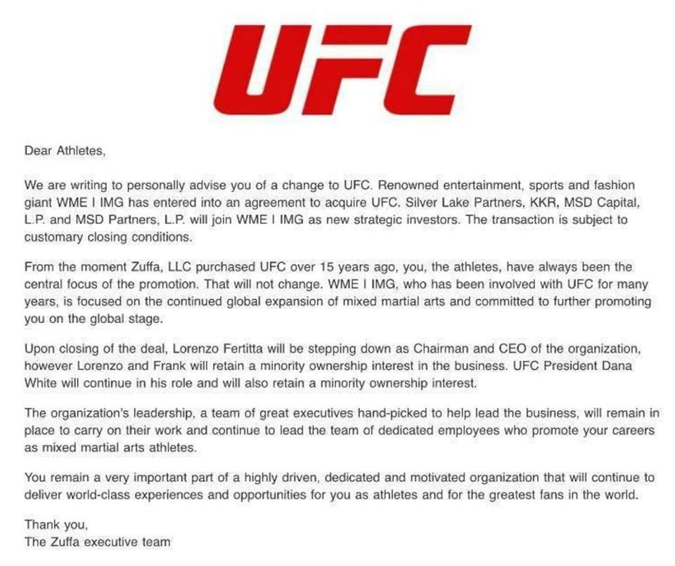 letter ufc sale