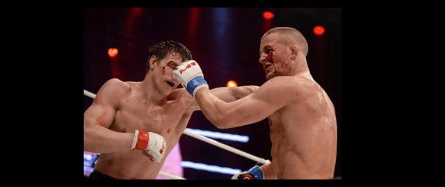 Two-time M-1 Challenge light heavyweight champion Viktor Nemkov (L) returns Oct. 21 in M-1 Challenge 71 against former Bellator champion Attila Vegh