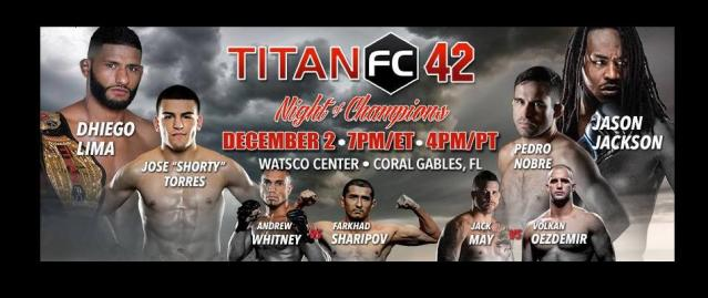 Titan FC 42 weigh-in results:  Dhiego Lima vs. Jason Jackson
