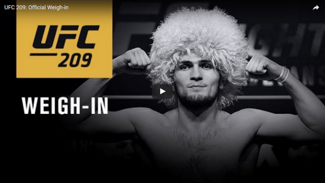 Watch UFC 209 ceremonial weigh-ins – 7pm EST/4pm PST (Early Results Here)
