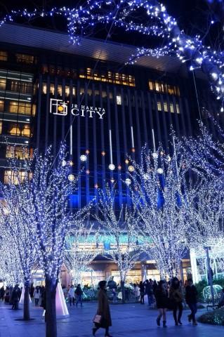 RX1Rで2014年博多駅クリスマスイルミネーション撮影