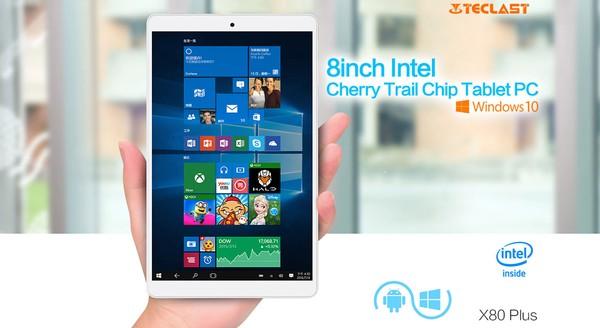 windows10搭載8インチタブレットTeclast X80 Plusスペック紹介参考画像
