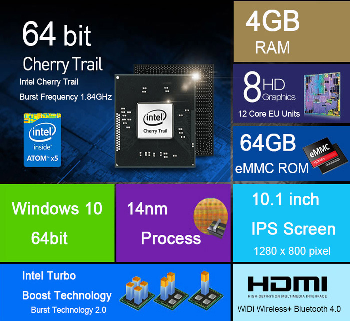 Onda OBook10 Ultrabook Tablet PC レビュー スペック詳細参考画像
