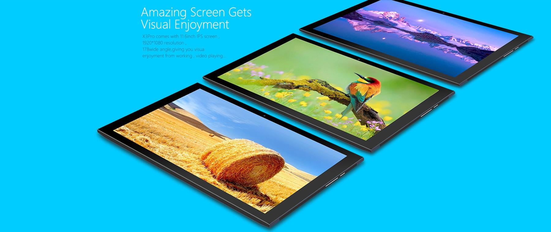 Teclast X3 Pro 2 in 1 Ultrabook Tablet PCレビュー 液晶のスペック参考画像