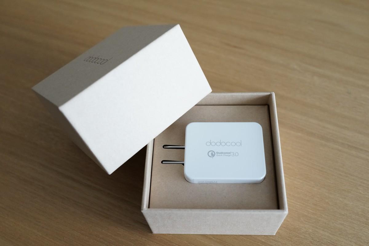 Qualcommクアルコム認証 dodocool USB充電器 レビュー 高速充電 Quick Charge 3.0 レビュー 梱包状態などの参考写真