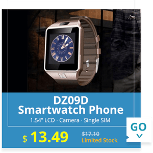 DZ09D Smartwatch Phone Bluetooth Single SIM Phone Dialer Camera Sleep Monitor Message Sync  -  SILVER