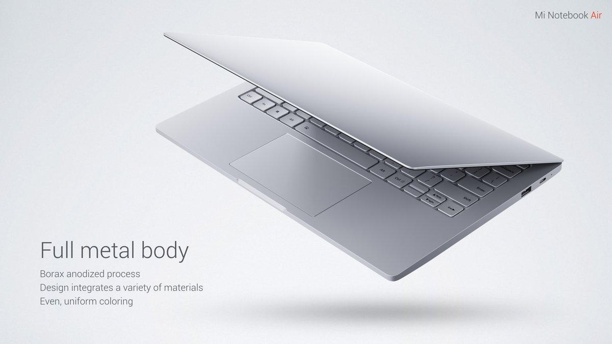 Xiaomi Mi Notebook Air スペック詳細 参考画像