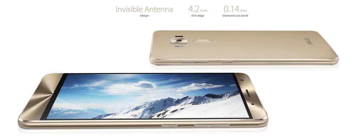 ASUS Zenfone 3 Deluxe ZS570KL 4G Phablet外観参考画像ベゼルの説明