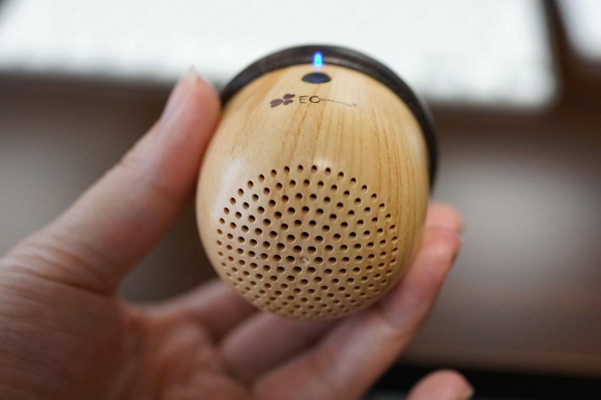 EC Technology どんぐりみたいで可愛い手のひらサイズのストラップ付スピーカーレビュー