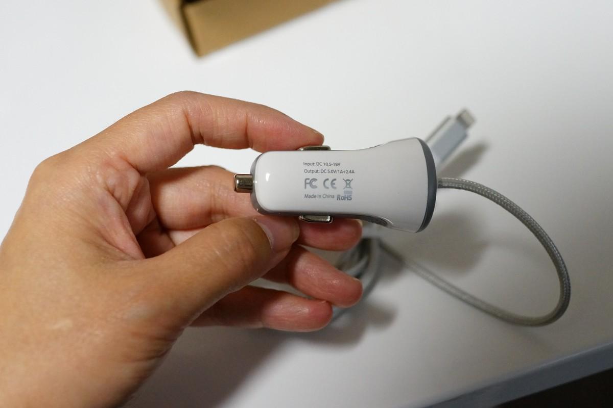 [AppleMFI認証] dodocool® Lightning Car Charger ライトニング カーチャージャー 車載用 充電器レビュー