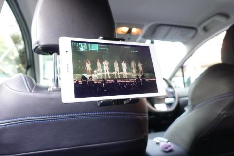 EC Technology タブレット用車載ホルダーレビュー 後部座席用 iPad・iPad mini・Xperiaに