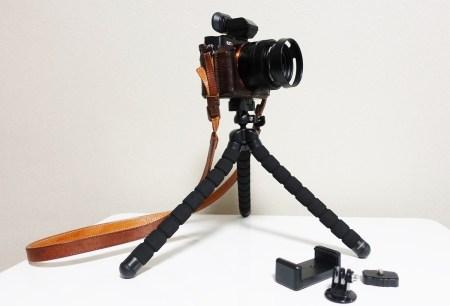 AUKEY フレキシブル三脚レビュー カメラもiPhoneもスマホもGoproも固定できる!